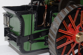 "water view Fowler Allchin 1.5"" live steam traction engine for sale"