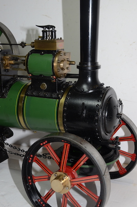 "smokebox view Fowler Allchin 1.5"" live steam traction engine for sale"