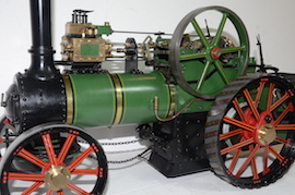 "front view Fowler Allchin 1.5"" live steam traction engine for sale"