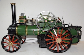 "left view Fowler Allchin 1.5"" live steam traction engine for sale"