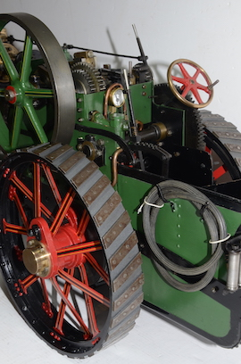 "rear view Fowler Allchin 1.5"" live steam traction engine for sale"