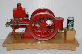 Main view Galloway 1/3 rd scale hit & miss petrol engine for sale.
