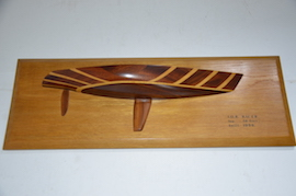 main view wooden half model yachts for sale