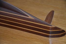 rudder view wooden half model yachts for sale