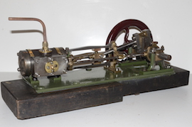 main Large vintage antique horizontal live steam mill engine for sale