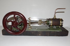 main2 Large vintage antique horizontal live steam mill engine for sale