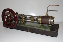 right Large vintage antique horizontal live steam mill engine for sale