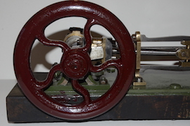 fly wheel Large vintage antique horizontal live steam mill engine for sale