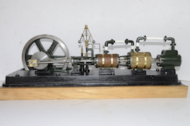 main view large horizontal tandem compound live steam engine for sale