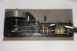 top view large horizontal tandem compound live steam engine for sale