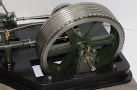 flywheel view large horizontal tandem compound live steam engine for sale