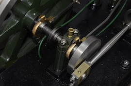 crank view large horizontal tandem compound live steam engine for sale