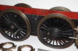 "wheel view 5"" GWR King 4-6-0 live steam 4 cylinder locomotive loco for sale"