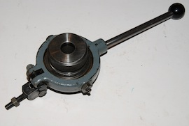 front view lever action collet chuck myford lathe for sale