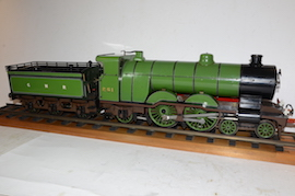 "LBSC Maisie 4-4-2 3.5"" Atlantic live steam tender loco for sale"