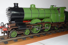 "front LBSC Maisie 4-4-2 3.5"" Atlantic live steam tender loco for sale"