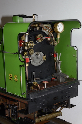 "backhead LBSC Maisie 4-4-2 3.5"" Atlantic live steam tender loco for sale"
