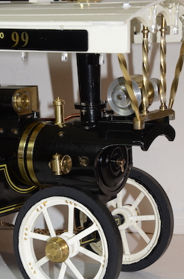 "front2 view Markie 1"" Showmans live steam traction engine Price of Wales for sale"