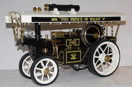 "left view Markie 1"" Showmans live steam traction engine Price of Wales for sale"