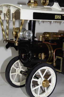"front view Markie 1"" Showmans live steam traction engine Price of Wales for sale"