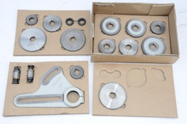 main view metric conversion set for myford gearbox lathe for sale