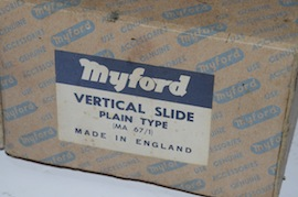 box view myford vertical milling slide fixed for sale