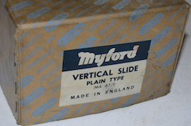 front view myford vertical milling slide fixed for sale