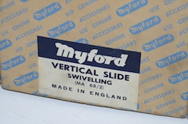 box view myford vertical milling slide rotating for sale