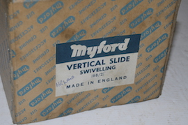 top view myford vertical milling slide rotating for sale