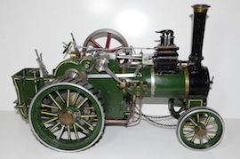 main view Minnie live steam traction engine 1 inch  for sale