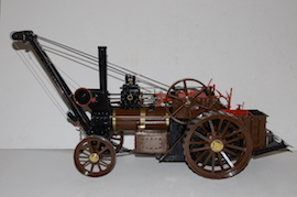 main view Minnie crane live steam traction engine 1 inch  for sale