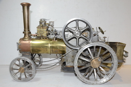 left view Minnie live steam traction engine 1 inch for sale