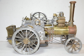 right view Minnie live steam traction engine 1 inch for sale
