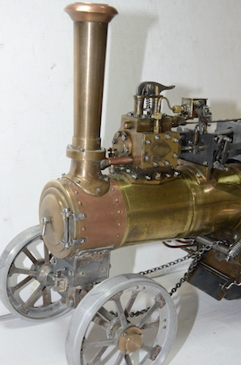 front view Minnie live steam traction engine 1 inch for sale