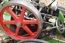 "flywheel view Minnie 2"" live steam traction engine for sale"
