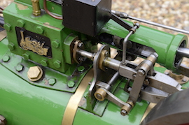 "reverse view Minnie 2"" live steam traction engine for sale"