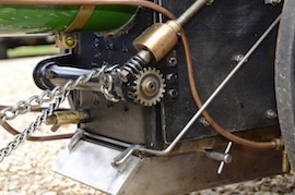 "steering view Minnie 2"" live steam traction engine for sale"