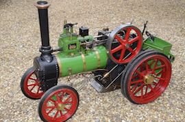 "front view Minnie 2"" live steam traction engine for sale"