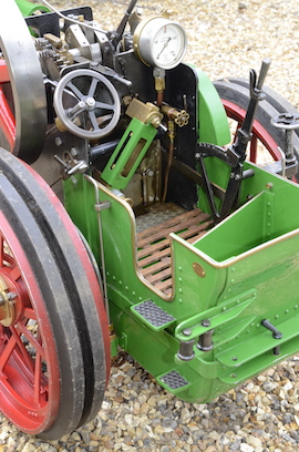 "rear view Minnie 2"" live steam traction engine for sale"