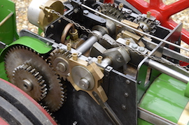 "gear view Minnie 2"" live steam traction engine for sale"