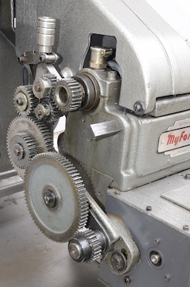 gears view Myford ML10 lathe with hemmingway gearbox for sale V134641