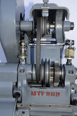 spindle view Myford  ML7 lathe for sale K31417