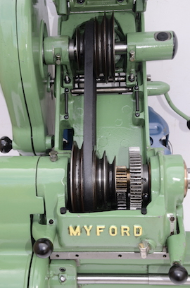 pulley view Myford ML7R lathe for sale KR143737