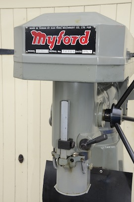 badge view Myford VMC milling machine for sale