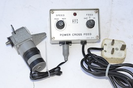 front view myford super 7  power cross feed pcf for sale