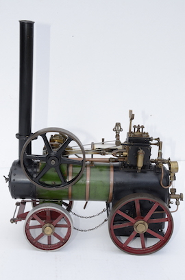 "left 1"" vintage old portable live steam engine for sale L. Billingham of Devizes"