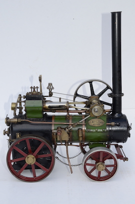 "right 1"" vintage old portable live steam engine for sale L. Billingham of Devizes"