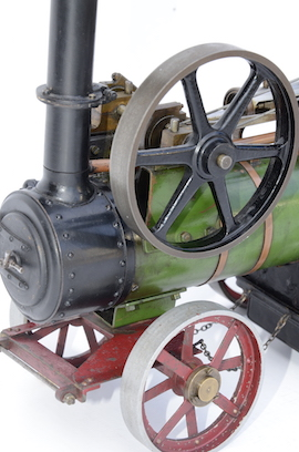 "front 1"" vintage old portable live steam engine for sale L. Billingham of Devizes"