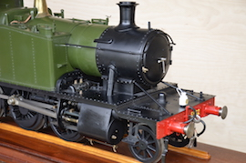 main view Exhibition GWR small Prairie 2-6-2 live steam loco for sale