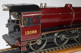 "main view LBSC Princess Marina  2-6-0 LMS Stanier 3.5"" live steam tender loco for sale"